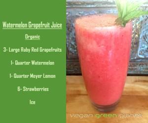 Fresh Watermelon Grapefruit Juice