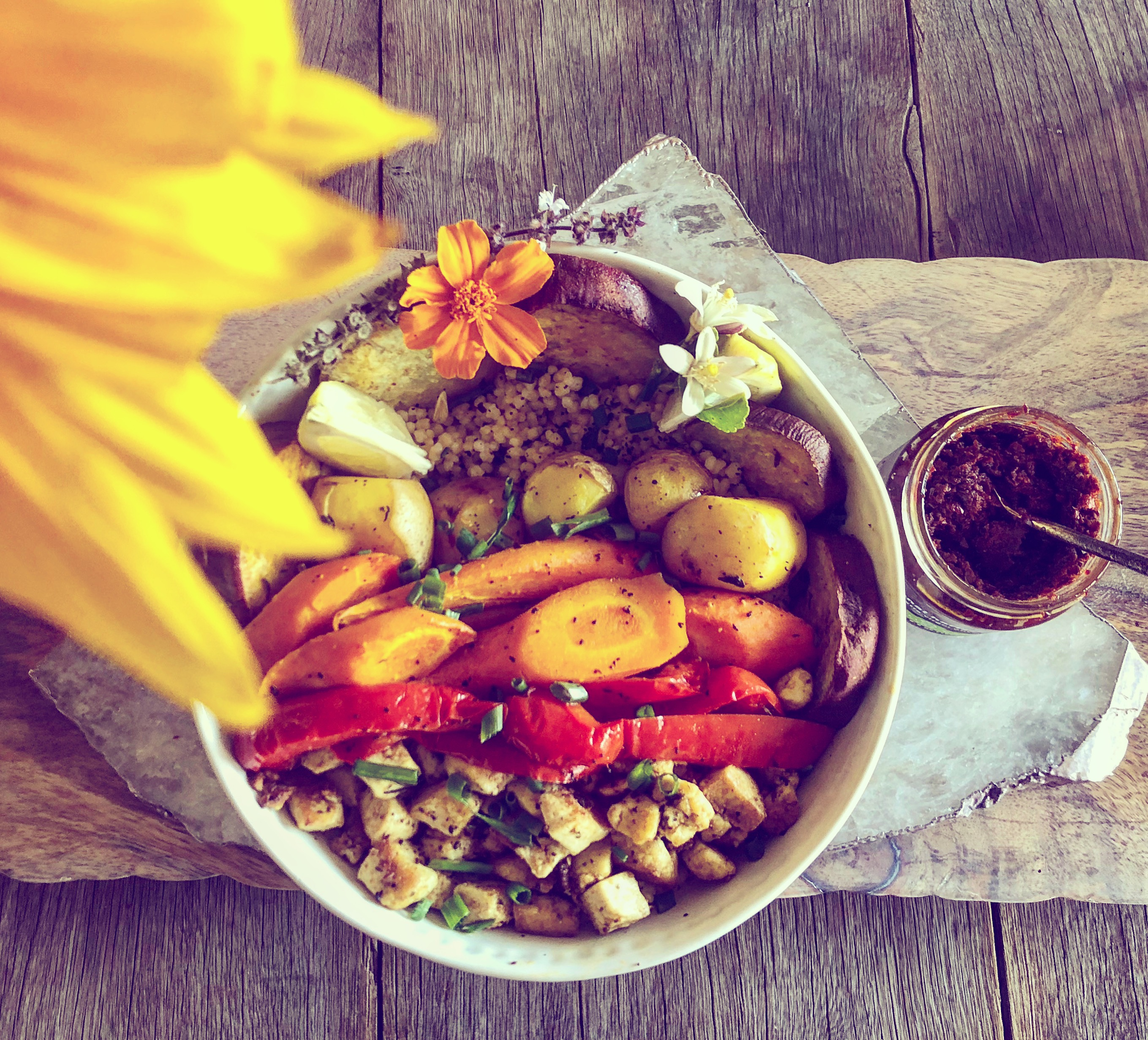 Moroccan Tagine Veggie Tofu Buddha Bowl | Vegan Green Planet